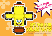 Paper craft of SpongeBob SquarePants