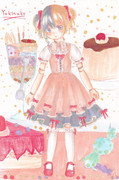 桃色人形【苺クリーム擬人化】