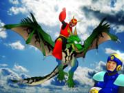 空から泣きながらメカドラゴンで降りてくるクイックとこっち見てるフラッシュシェフの画像ください
