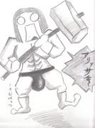 ガチムチ・ハンマーたん【えんぴつ手描き】