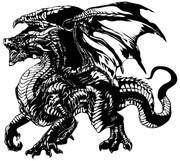 ブラックドラゴン切り絵その2