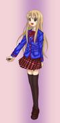 ムギに天ノ川学園高校の制服を着せてみた