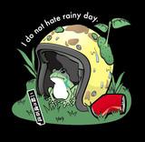 蛙の雨宿り