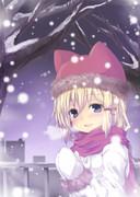 雪の日に諏訪子とデートヽ(*´ω`*)/