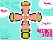 Paper craft of Patrick Star