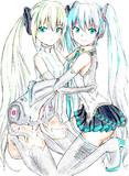 【ぬりえ】「双子の歌姫 」