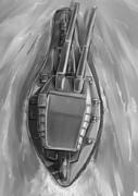 上から見た超々旋回巨砲戦艦