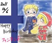 Happy Birthdayフィンランド moi(´∀`)moi