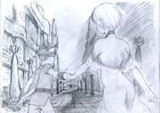 【ICO】手をつないで歩く二人