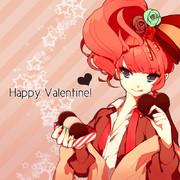 バレンタインに描いた男の娘