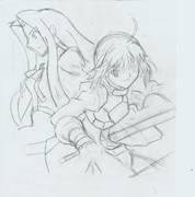 Fate/Zero  2巻 模写 下書き