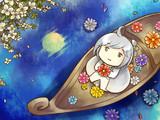 空に咲く涙月
