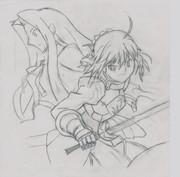 Fate/Zero 2巻 模写 途中経過