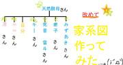 改めて家系図