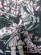 底辺の癖になまいきだ!底辺が千本桜描いてみた【切り絵】