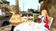 ガレキ町でのお茶会