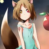 狐っ子と林檎を塗らせていただきました