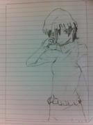 年賀状用アナログで東鈴描いてみました