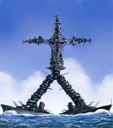 合体~!!戦艦