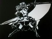 【切り絵】セイバー Fate