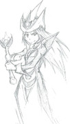 沈黙の魔術師を描いた