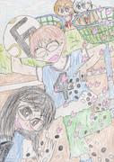 囲碁サッカー部を(色鉛筆で)描いてみた