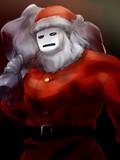 サンタクロースの不自然な胸の膨らみ
