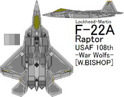 F-22A Raptor 108th Task Force -War Wolf- (Ver.2)