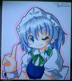 色紙を描いてみた。