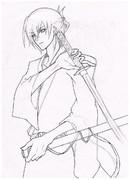 【KAITO】武士っぽくしてみた。【まだ下書きだけど】