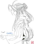 年賀状なベルダンディー(線画)