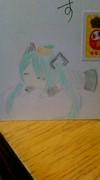 【年賀状】はちゅねミクを描いてみた。