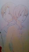 【年賀状】君と僕の兄弟を描いてみた。