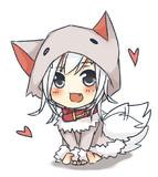 オオカミさん(懐き)