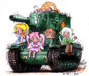 年賀カラー絵KV-2戦車