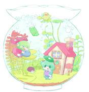 金魚鉢の庭