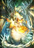 【年賀絵】竜の業火に焼ける兎