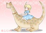 女の子と猫竜