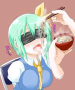 だいちゃんが泣きながら蕎麦を食べている画像