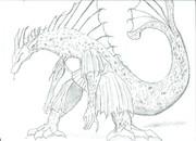 教習ノートに落書きしたチタノザウルスがイケメンだったので頑張ってみたww