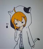 猫耳パーカー