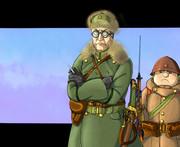 大尉と上等兵