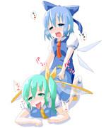 女の子同士ましてや妖精さん同士が戯れているだけの画像だからセーフ・・・そうセーフ