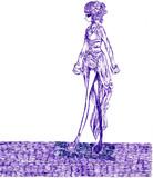 紫の世界から何時まで歩けば出れるのかしら。