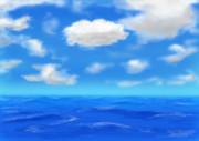 空と海の練習