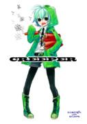 【minecraft】クリーパー擬人化らくがきった【描いてみた】