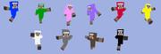 【Minecraft スキン】 スキン適用画像(ヒツジ10種)