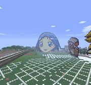 minecraftで咲-saki-の池田ちゃんを作ってみた