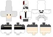 【Minecraft×ペパクラ】キャスケルトン【展開図】