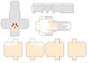 【Minecraft×ペパクラ】ガストちゃん_試作版【展開図】